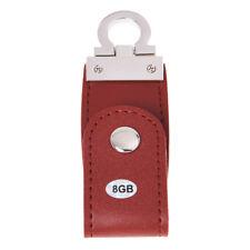 Marrone USB 2.0 8GB chiavetta memoria flash pen drive in ecopelle A4Z4