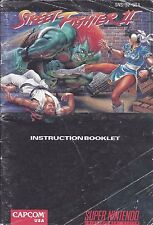 Street Fighter II SNES Super Nintendo Manual Instructions Acceptible Condition