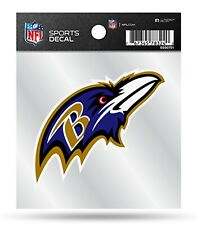 Baltimore Ravens Premium 4x4 Decal Clear Backing Flat Auto Home Sticker Football