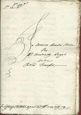 Causa Sig. Franceschi di S. Vincenzo a Verciano dal Curato Lippi Capannori 1784