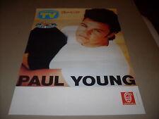 PAUL YOUNG - LOCANDINA POSTER TOUR  ITALY 36 x 50
