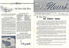 Nov 1957 MPC News MANITOBA POWER COMMISSION Christmas FARM Fruit Cake Recipe