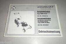 Betriebsanleitung / Handbuch Bullcraft Rasenmäher BRM 46 R / BRM 46 REV 09/1992