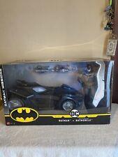 """DC"""" Batman""""&"""" Batmobile"""" With Missile Launchers NIB By Mattel Ages 4+"""