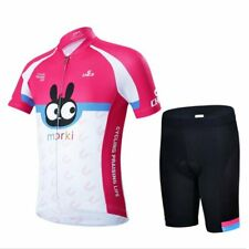 Children Youth Cycling Jersey Set 2019 Trousers short Sleeve Padding Bicycle
