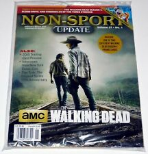 THE WALKING DEAD Non Sport Update Magazine SEALED 2016 w/ Promo Cards