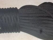 3/8x200  feet Double Braid Nylon BLACK ROPE Anchor Dock Hoist Winch  Lift
