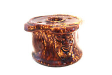 Bennington Pottery Inkwell with Northwind Faces Antique AS IS