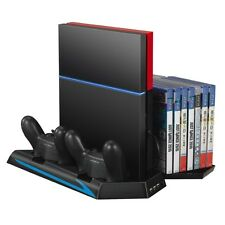 Standfuß Lüfter Ladestation Controller USB Hub Game 14 Spiele Slot für PS4  5in1