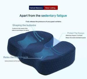 Ergonomic Hemorrhoid Car Seat Cushion Memory Foam Coccyx Orthopedic Chair Cus...