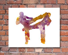 Kick Boxing Abstract Watercolor Painting Art Print by Artist DJ Rogers