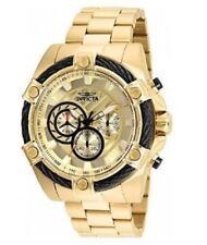 2de95f1c6153f Novo anúncio Relógio Invicta Bolt Homens De Ouro Aço inoxidável 52mm  Mostrador Dourado VD54 Q..