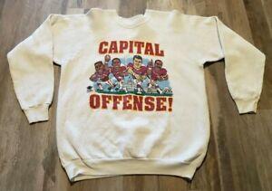 Vintage Washington Redskins Sweater Capital Offense Mark Rypien Art Monk USA!!!