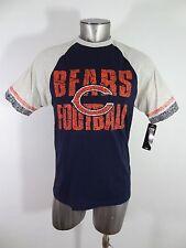 Chicago Bears Football NFL men's jersey t-shirt blue S NEW