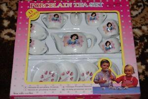 Dutch Spanish Princess Snow White Porcelain Tea Set 13 Pieces NIB