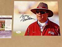 Coach Bobby Bowden signed Florida State Seminoles 8x10 photo JSA #K96689 BLACK