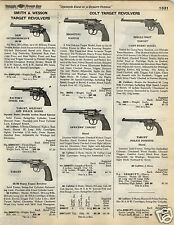 1935 PAPER AD Colt Target Revolver Camp Perry Police Positive Automatic Pistol
