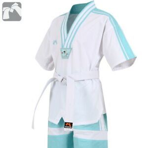 Mooto Taekwondo Summer Uniform TKD Suits Dobok Short Sleeves Mint