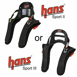 HANS Device Sport II / 2 or III / 3 20 Degree FHR Head & Neck Safety Device FIA