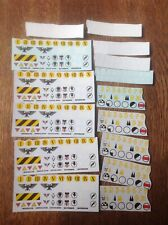 Warhammer 40k Transfers Sheets Space Marines Assorted Regiment Numbers Skulls 2