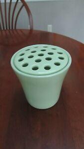Southern Living At Home Arrange It Easy Green Round Flower Frog Vase Ceramic