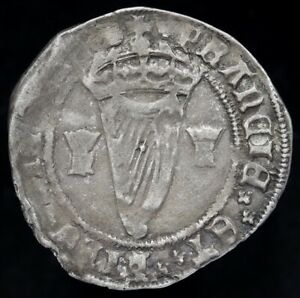 Ireland. Henry VIII, 1509-47. Sixpenny Groat, mm. Lis. 4th Harp Issue, 1544.