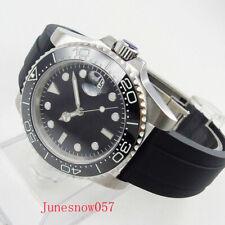 BLIGER Nologo Mechnical Herrenuhr Auto Date Sapphire Glass 40mm Armbanduhr