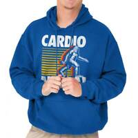 Awkward Styles Unisex Cardio is Hardio Hoodie Hooded Sweatshirt White Workout Gym