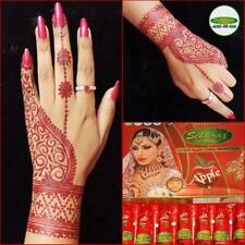 Golecha Henna Apple Red Color Mehndi Cones By Vimal's Sehnaaz 12 cones pack