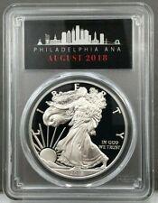 2018-S American Silver Eagle PROOF PR70 DCAM FIRST STRIKE Philadelphia ANA Label
