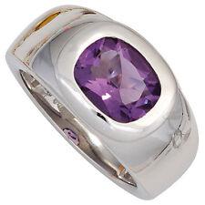 Echte Edelstein-Ringe aus Sterlingsilber mit Amethyst für Damen