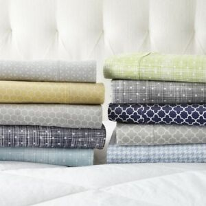 Home Collection Premium 4 Piece Printed Bed Sheet Set
