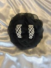 New Clearance Silver Victorian Vintage Antique Crystal  Earrings