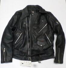 Giacca in Vera Pelle Cintura Vintage ANGOSCIA Marrone Moto