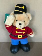 Soldier Bear plush Stuffed Animal By Dakin Vintage 1980's New with Tag