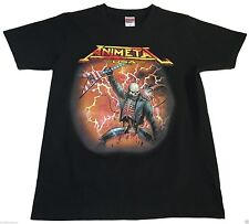(S) ANIMETAL USA Black Shirt Japanese Anime Speed Yngwie Malmsteen Whitesnake