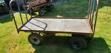 More details for ex railway station trolley solid tyres tow hook and pull handle, bolens trailer