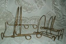Lot Of 5 Matching Vintage Gold Metal Picture Easels Display Holders