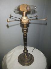 "Oscar Bach Antique Table Lamp Base 18"" Tall - Leviton Sockets - Great Shape"