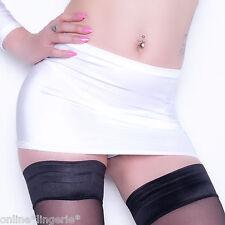 White Micro Mini Skirt Sexy High Waisted UV Club Short Bodycon Womens Party CS1