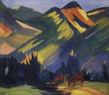 Morning in Stavrin : 1912 : Martiros Saryan : Archival Quality Art Print