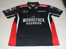 6ae28e81d Tekno Woodstock Racing Mens Black Printed Short Sleeve Polo Shirt Size L New