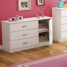 3 Drawer Dresser Chest White Cabinet Modern Storage Bedroom Furniture Organizer