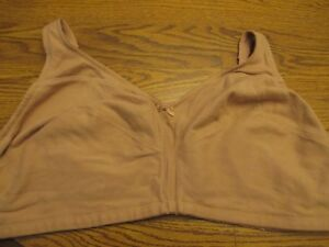 Comfort Choice sz 54C Style 27-0922-8 nude 100% cotton wirefree bra Ex.