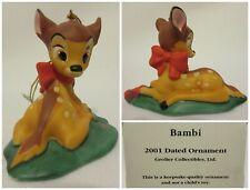 Grolier Disney 2001 Bambi Christmas Ornament Annual Scholastic Dated Porcelain