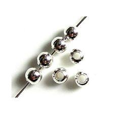 100 Intercalaires spacer _ RONDES LISSES 5mm _ Perles apprêts créa bijoux _ A243