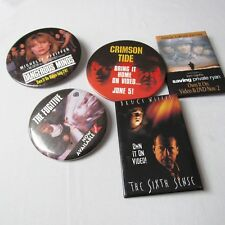 Rare Htf Pins Suspense Movies Release Ad Promo Lot of 5 The Sixth Sense 2C-33