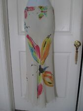 Moschino Cheap & Chic Butterfly Watercolor Maxi Skirt Size 4 US  Italy
