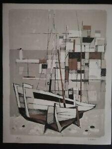 Tullio Crali litografia originale, prova d'artista firmata a matita
