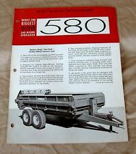 Vintage Oliver Corporation Model 580 Spreader Advertising Brochure-Ca 1963!